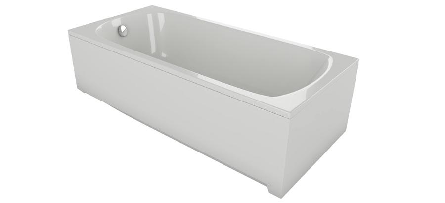 Акриловая ванна серая